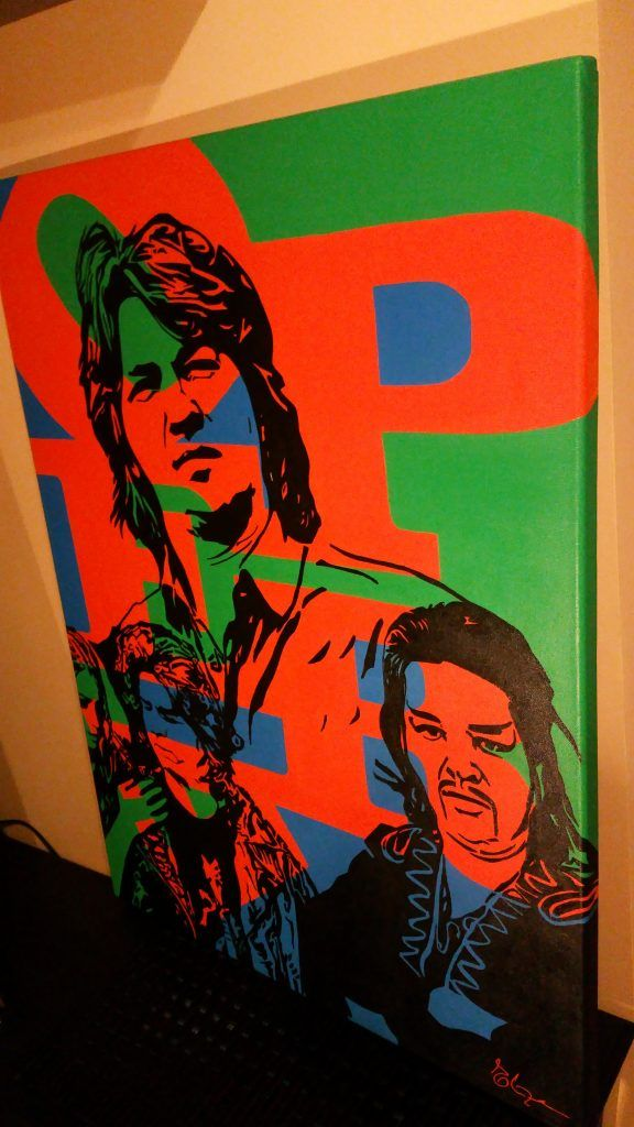 » Popart Portrait, original painting  #painting #operaTenor #acryl on #canvas
