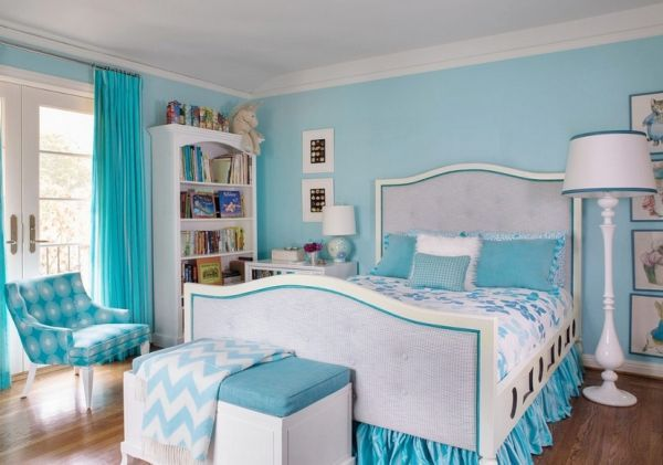 Cool Girls Bedroom Ideas Decorations: Fabulous White Turquoise Teen Girls Bedding Ideas Stand Lamp ~ SQUAR ESTATE Bedroom Inspiration