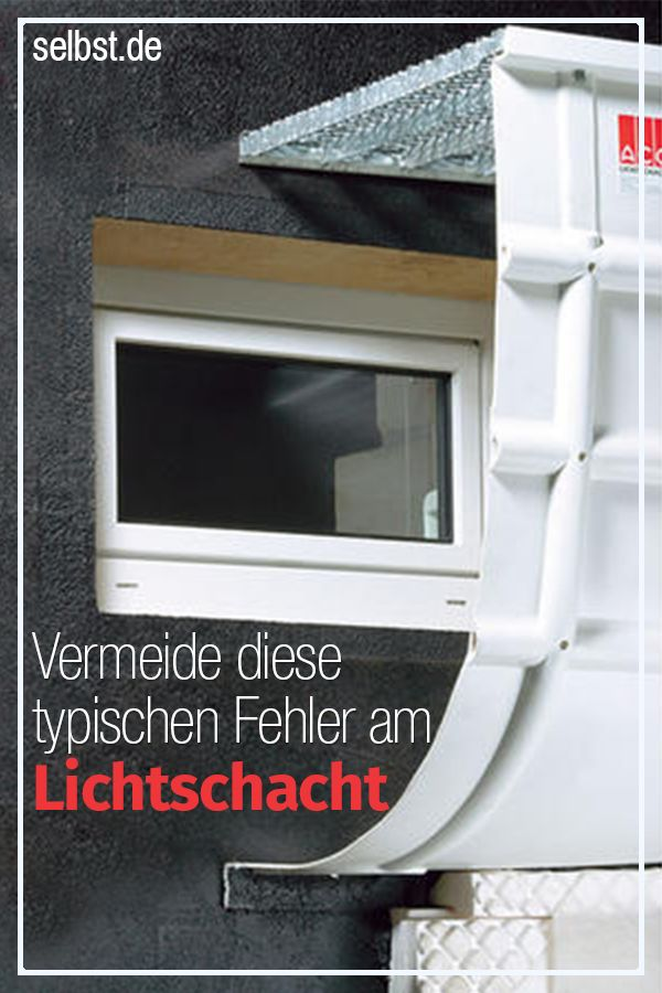 Beliebt Lichtschacht | Bauen & Renovieren | Lichtschacht, Kellerfenster CW48