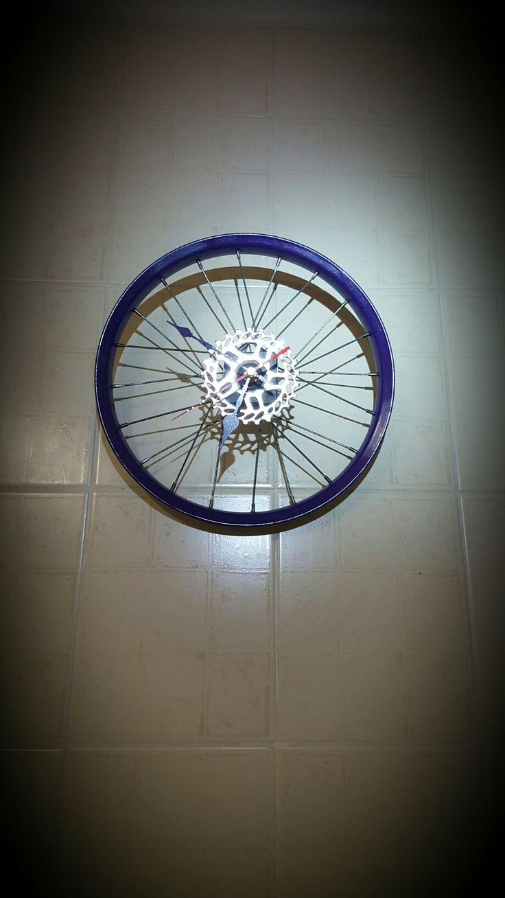 Bicycle rim clock