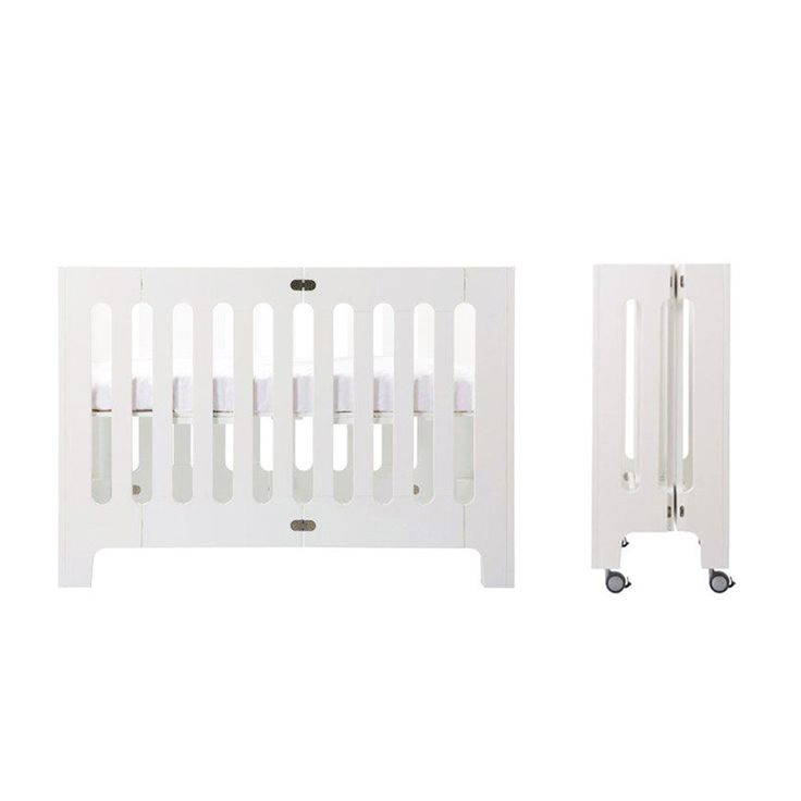 bloom alma papa portable / foldable baby crib for small nursery spaces and urban living.  https://usa.bloombaby.com/collections/cribs/products/alma-papa