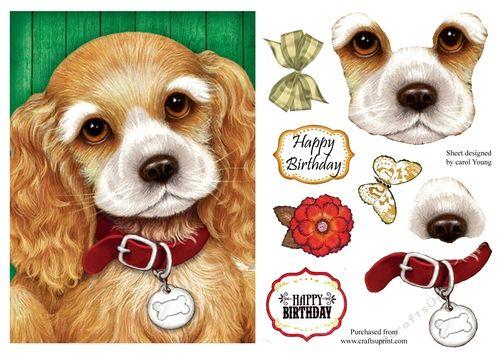 Cocker Spaniel Dog Crafts Animal Cards Cards