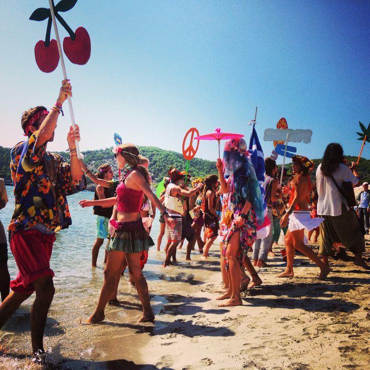 Pacha party on the beach of Ses Salinas! #ibiza