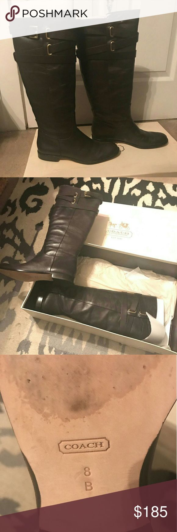 Coach Boots Tall Coach boots in Cayden Chestnut brown smooth nappa leather. Size 8M. Excellent condition, worn once, no scuffs, paid $295 + tax, make an offer:) Coach Shoes Over the Knee Boots