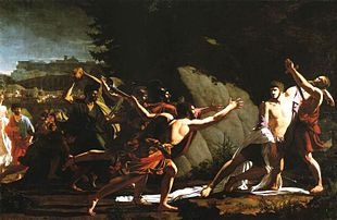 Death of Gaius Gracchus , tribune of the people ( painting by Jean - Baptiste Topino - Lebrun , 1792) .