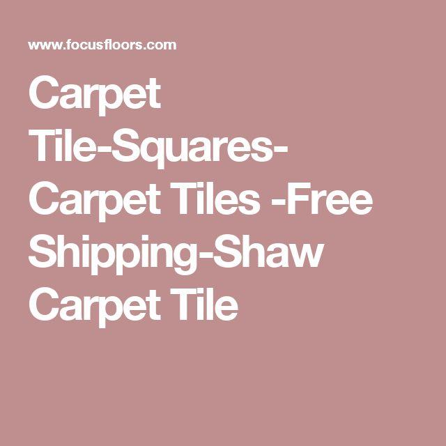 Carpet Tile-Squares- Carpet Tiles -Free Shipping-Shaw Carpet Tile
