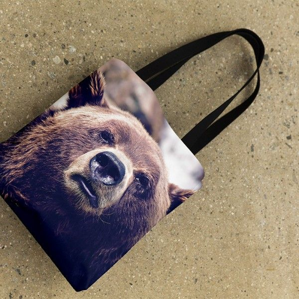 """Tote Bag – """"Ay, Boo Boo""""   Logo-Free & All-Over Printed Accessories"""