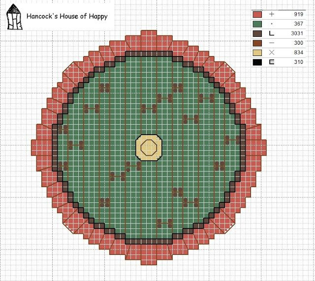 Down the Hobbit Hole: This week's free cross stitch chart is up at Hancock's House of Happy