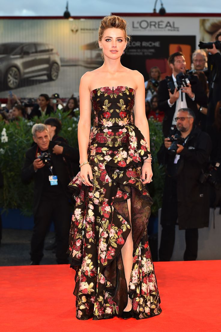 AMBER HEARD IN ALEXANDER MCQUEEN Attending the 72nd Venice Film Festival, September 5.