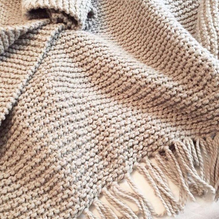 Las 25 mejores ideas sobre mantas tejidas en pinterest y - Mantas de punto a dos agujas ...
