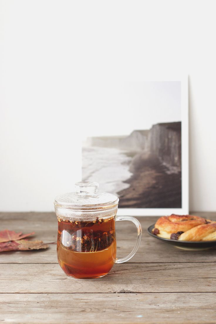 Chai tea in our Glass infuser mug