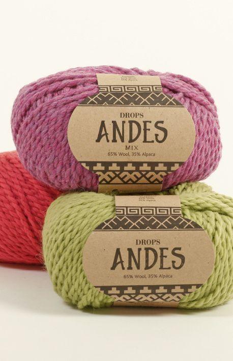 Piękne, cieplutkie wełny Drops Andes....