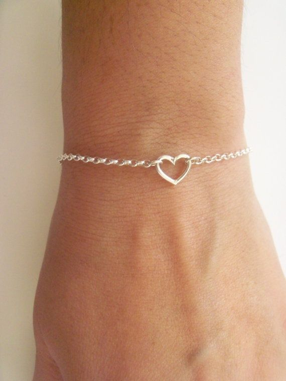 So Cute Tiny Heart Sterling Silver Bracelet !