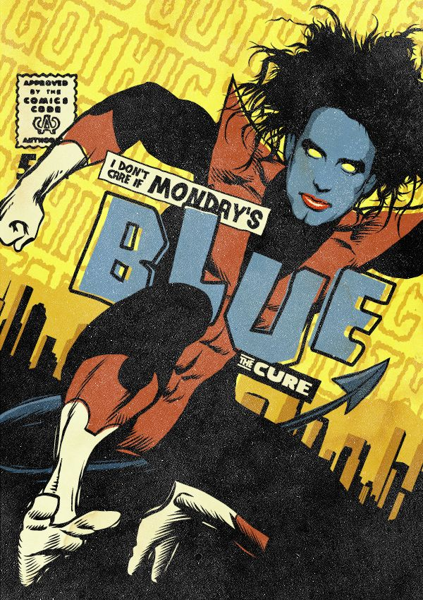 Post-Punk Icons Reimagined As Marvel Heroes by Butcher Billy - The Cure/Kurt Wagner