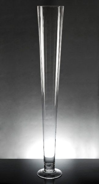"""Extra Tall Clear Glass Vases 31-1/2""""   $12.99 each - center pieces with hydrangeas."""