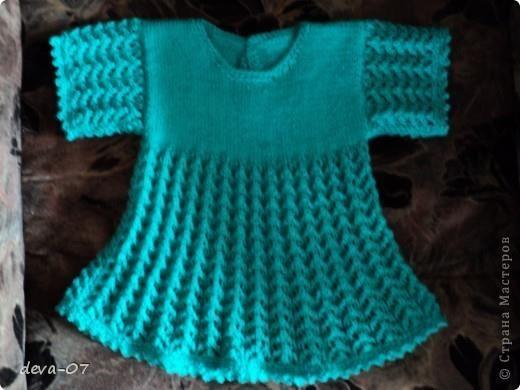 Голубки вязание крючок детские платье
