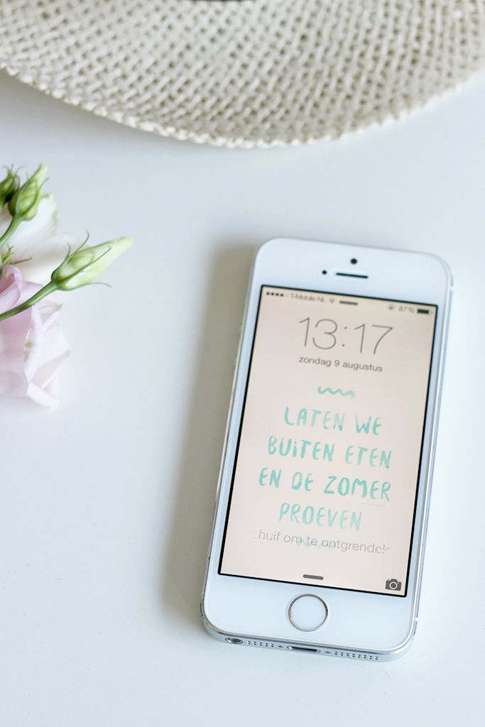 Wallpaper #19 — Laten we buiten eten ... | Peek Inside | Quote: Coeur Blonde