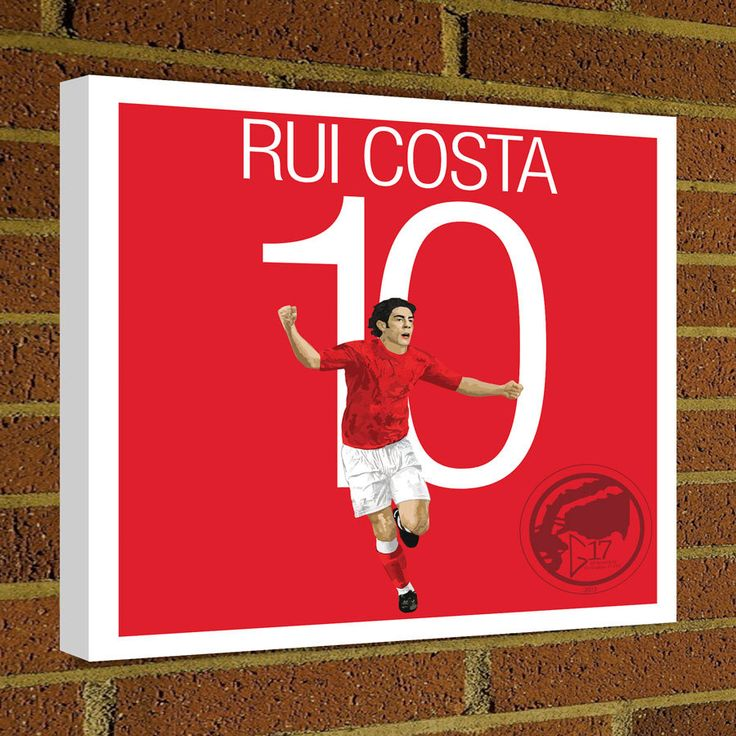 Rui Costa Square Canvas Wrap, Soccer Art Print Madrid Canvas Print Benfica - Portugal Soccer Poster wall decor, home decor, Primeira Liga by Graphics17 on Etsy