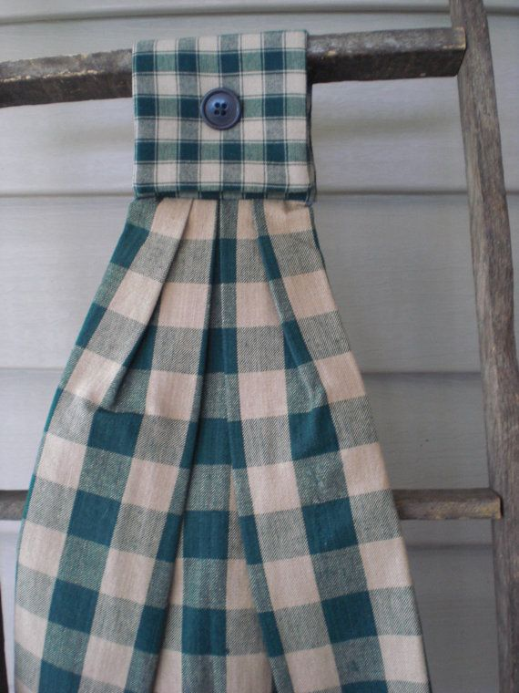 Homespun Hanging Tea / Dish Towel   Country by floweringfelts