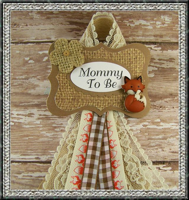Fox Mommy To Be Corsage Fox Grandma To Be Baby Shower Corsage Woodland Theme Corsage Woodland Mommy To Be Badge by BloomingParty on Etsy https://www.etsy.com/listing/227959356/fox-mommy-to-be-corsage-fox-grandma-to