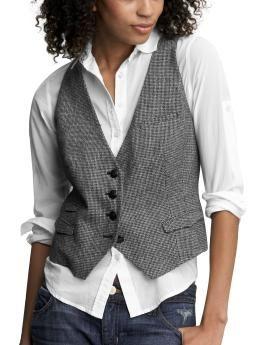 Tweed Vest- Gap :  shopping the gap menswear inspired tweed