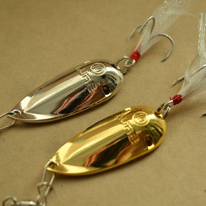 2015 cazibesi özel fiyat yayın balığı kaşık balıkçılık lures 5g 10g 15g altın/gümüş cicada metal cazibesi bas cazibesi balıkçılık için ücretsiz nakliye