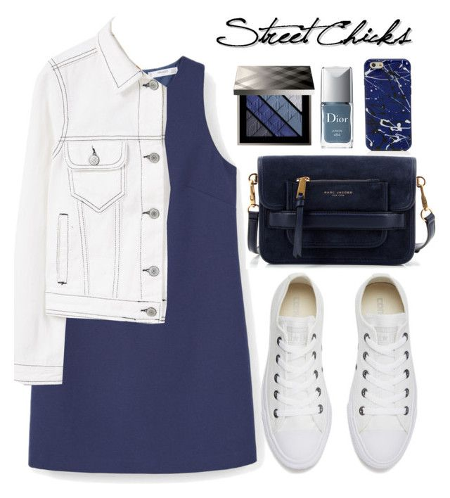 """""""Dress and converse"""" by bliznec ❤ liked on Polyvore featuring MANGO, Converse, Marc Jacobs, Burberry and Christian Dior"""
