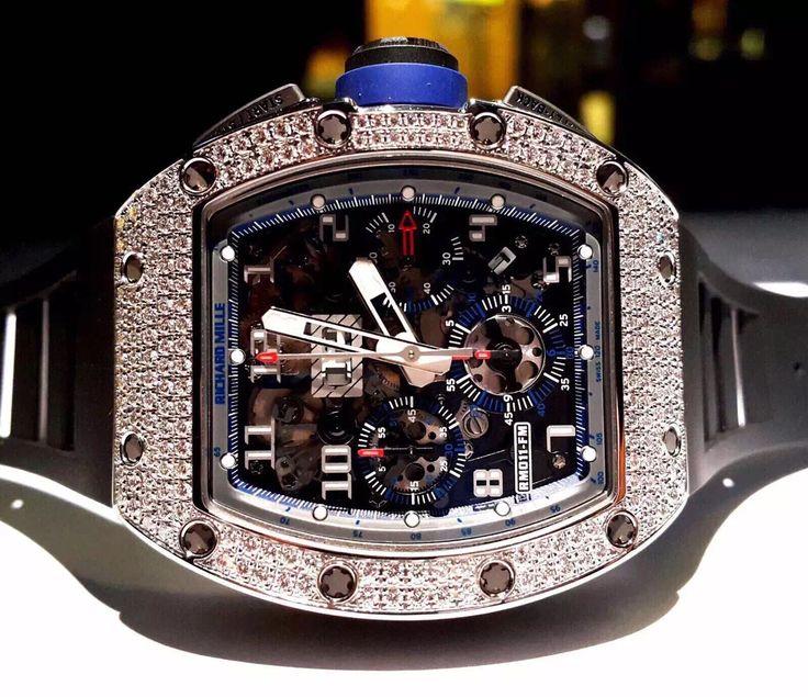 理查德•米勒 (Richard Mille) [NEW][LIMITED EDITION 70 PIECE][全新限量70支] RM 011 White Gold Diamond Asia Boutique Edition at HK$1,360,000.