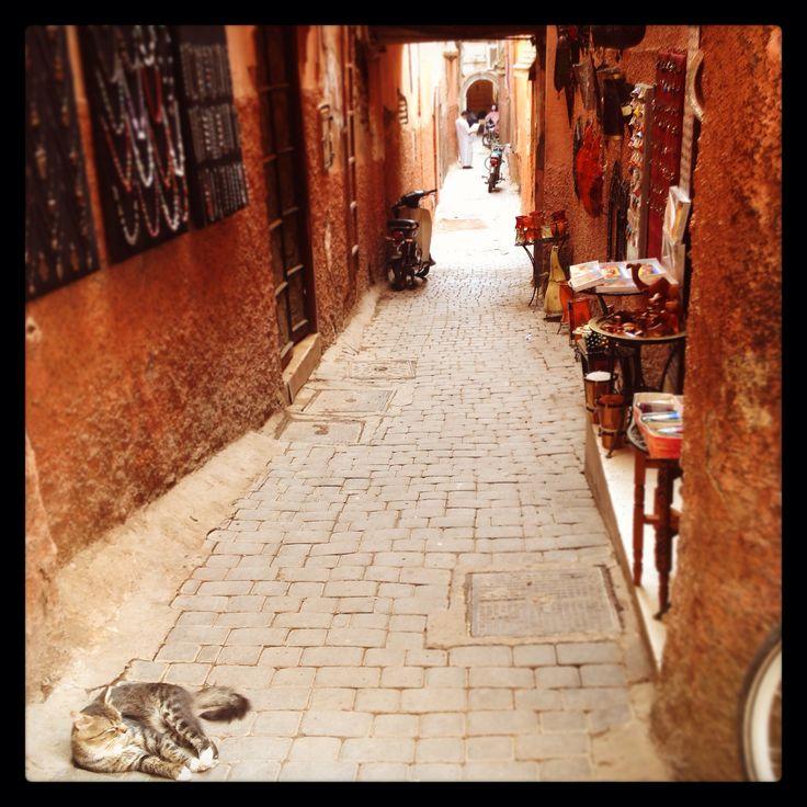 Souks in Marrakech, Morocco.