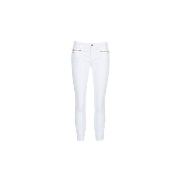 Versace Jeans A1HPA134 Trousers ($165) ❤ liked on Polyvore featuring pants, trousers, white, women, white pants, versace trousers, white trousers, versace and versace pants