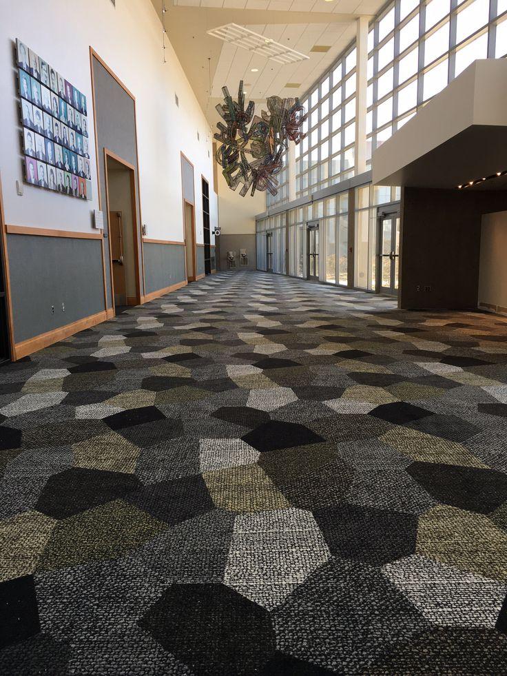 Location: Northern Kentucky University, U.S.A. Carpet design Canvas Collage by Nicolette Brunklaus. #carpet #education #hospitality #flooring #egecarpets #egetæpper