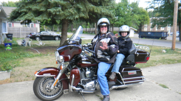 Zachary and Pawpaw arrive on a Harley: Pawpaw Arrival, Favorite Guys