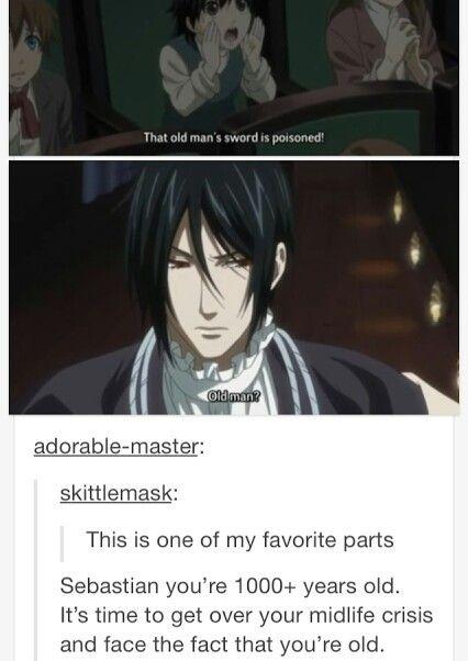 Black Butler Sebastian funny