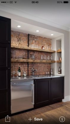 Image result for closet converted to wet bar
