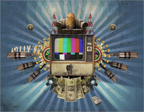 Poster The Television will not be Revolutionised! art | decor | wall art | inspiration | collage | home decor | ideas | gift