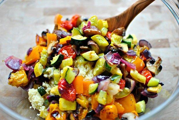 Roasted Vegetable Couscous www.SimplyScratch.com face plant