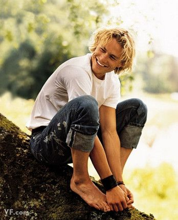 """""""When Heath smiles, it's Errol Flynn,"""" said <em>A Knight's Tale</em> director Brian Helgeland. """"Once every 50 years a guy like that comes along."""""""