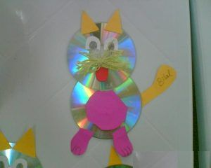 cd cat craft idea