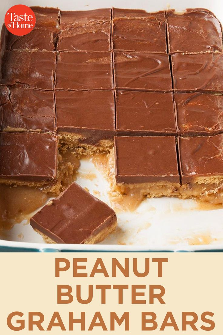 Peanut Butter Graham Bars