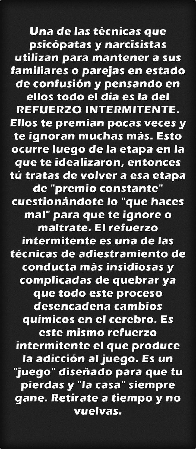 #ViolenciaPsicologica #AbusoEmocional #Acoso #RefuerzoIntermitente #PsicopatasIntegrados #Narcisistas #Maltratadores