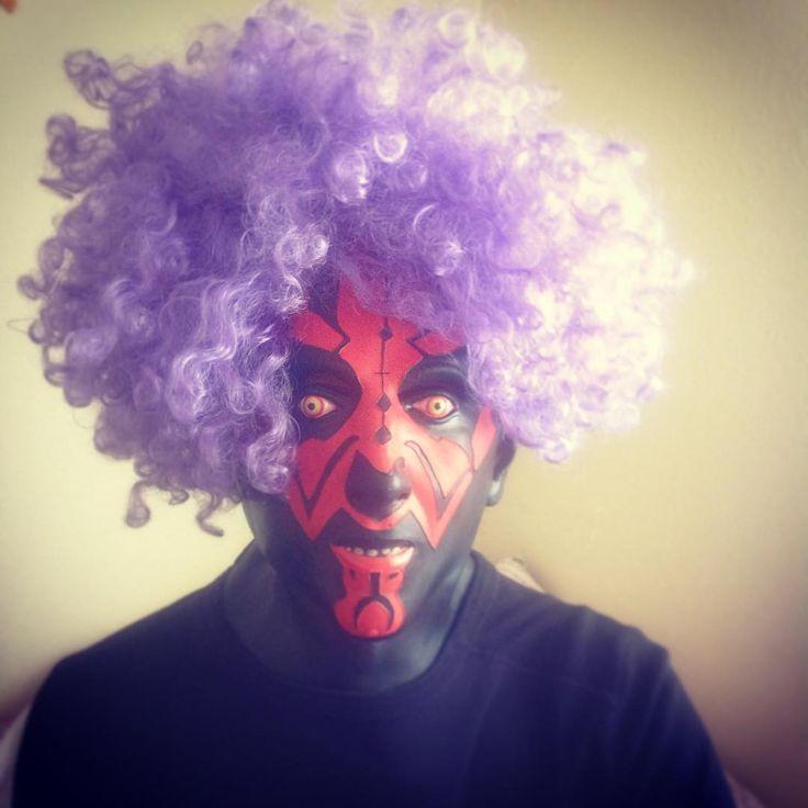 Need a #haircut?  #hair #wig #darthmaul #starwars #funny #portrait #funidelia #pink #look #maul #geek #friki #fun #costume #deguisement #disfraz