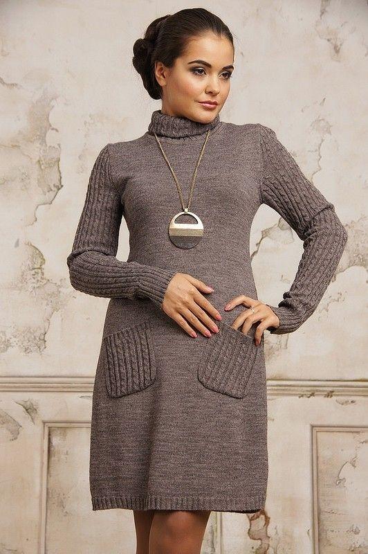Вязаное платье: с чем носить и как выбрать - фото