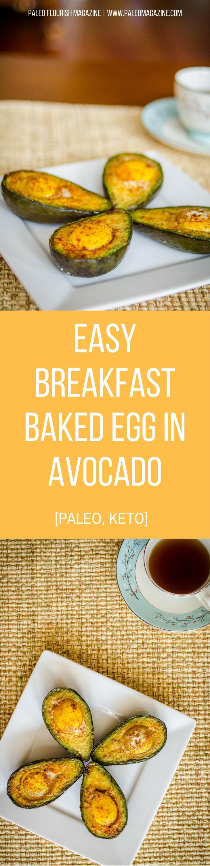 Easy Breakfast Baked Egg in Avocado Recipe [Paleo, Keto] #paleo #keto #recipes - http://paleomagazine.com/baked-egg-in-avocado-recipe