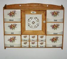 Antique Spice Rack Wall Rack