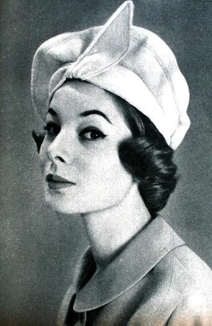 Jardin des Modes March 1958 - Hat by Nelbur