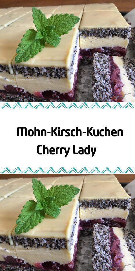 Mohn-Kirsch-Kuchen Cherry Lady