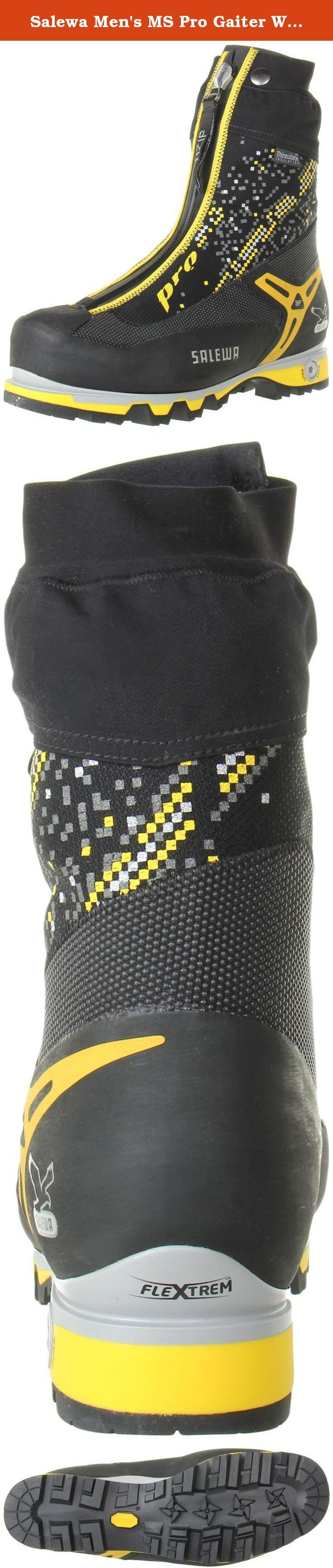 Salewa Men's MS Pro Gaiter W Mountaineering Boot, Black/Yellow, 11 W US. FEATURES of the Salewa Men's MS Pro Gaiter Boot The Salewa Men's MS Pro Gaiter Boot is a new benchmark for professional mountain guides and expert mountaineers. The boots feature an adjustable sole system and an anatomical last with a climbing toe profile. The Salewa Men's Pro Gaiter Boot contains Flex System, a patented Salewa design which can become 100% stiff when you need it. Multiple lasts in this shoe means no...