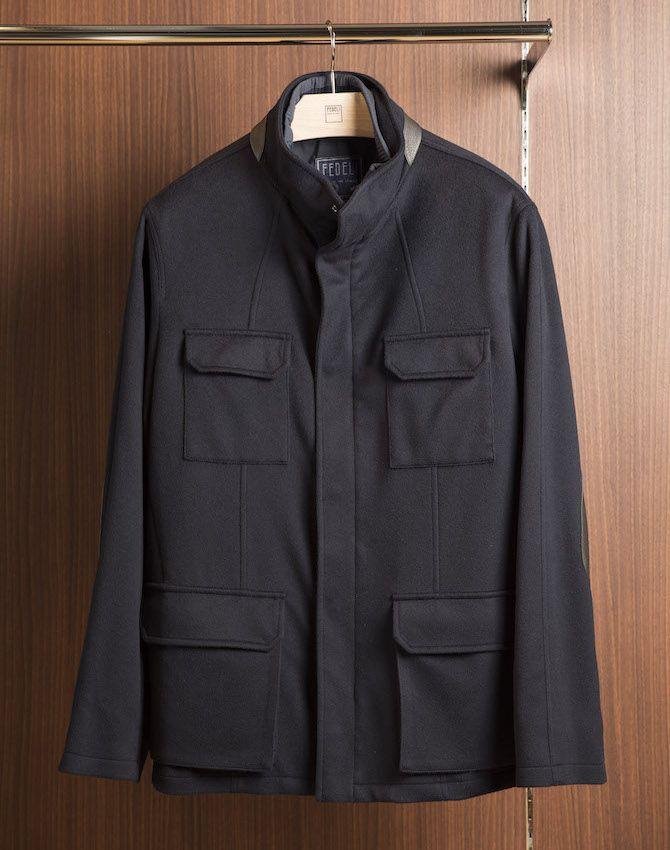 北イタリア、モンツァにて1934年に創業した、イタリア・ニットブランドの草分け、フェデーリのジャケット。素材はペルー産の最高級獣毛ビキューナである。270万円(フェデーリ/HIKO銀座店TEL.03-6264-4450 )