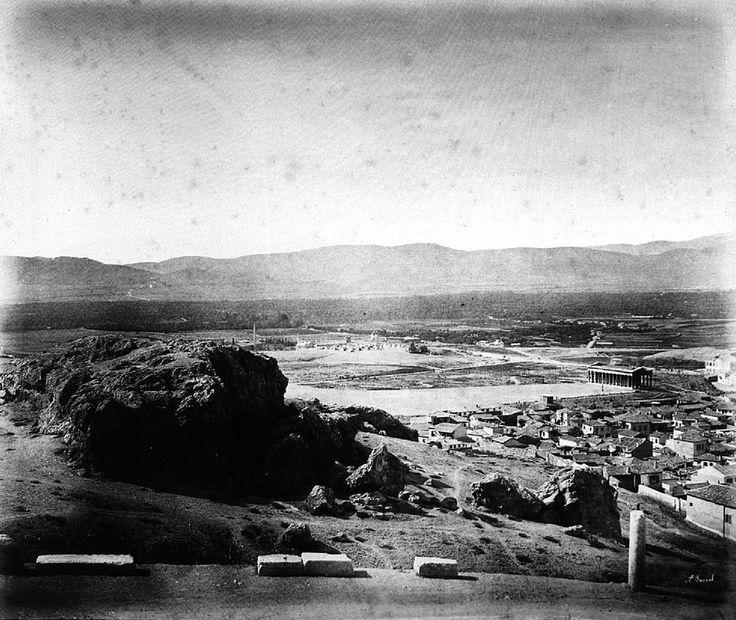 Θέα της Αθήνας από τον Άρειο Πάγο _ JAKOB AUGUST LORENT, 1866