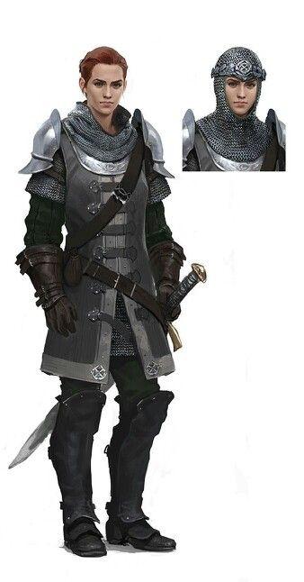Female warrior/make it look more feminine for garb/winter garb